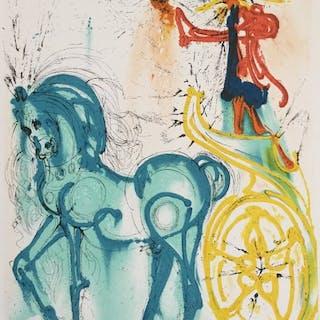 Salvador Dali- Le cheval de triomphe - Les Chevaux de Dali