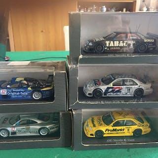 MiniChamps - 1:43 - Mercedes benz collection - Posten mit 5 dtm Modellen