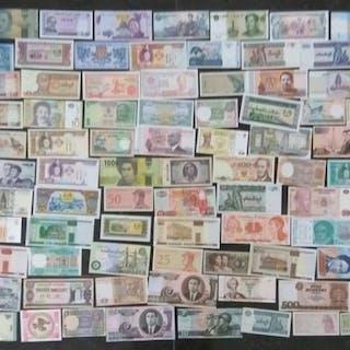 Welt - Collectie diverse bankbiljetten (100 verschillende)