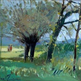Rafael Griera i Calderon (1934-) - Paisaje con Figuras