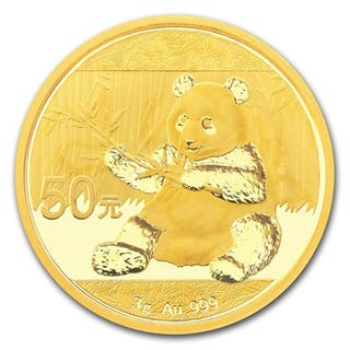 China - 50 Yuan 2017 Panda - 3g - Gold