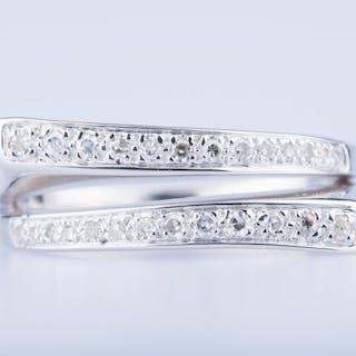 18 kt. White gold - Ring Diamond