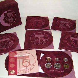 Paesi Bassi -  Jaarsets (Proof) 1996/2001   (6 verschillende) incl. box
