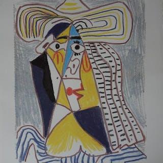 Pablo Picasso- Personnage cubiste au chapeau