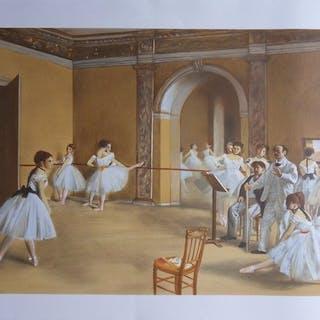 Edgar Degas (1834 - 1917) (d'après) - Le foyer de la danse à l'Opéra