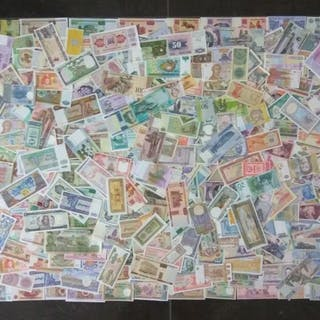 Welt - Collectie diverse bankbiljetten (± 350 stuks)