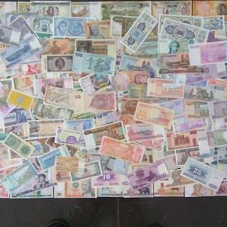 Welt - Collectie diverse bankbiljetten (± 200 verschillende)