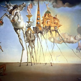Salvador Dalí (after) - The Temptation of Saint Anthony