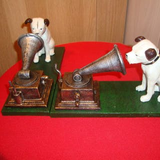 2 cast iron dogs- Offizielles Memorabilien-Werbeobjekt - 1970/1970