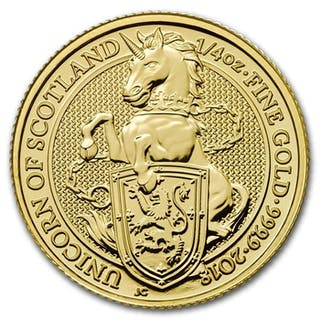 United Kingdom - 25 Pounds 2018 'Queens Beasts Unicorn of...