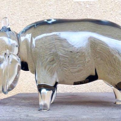 Pino Signoretto - Scultura Ippopotamo (29 cm)
