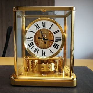 Atmos clock - Jaeger LeCoultre- Gold plated - New collection