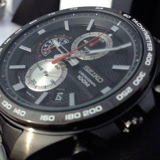 Seiko - Chronograph SSB283P1 Black/Silver Watch Cal. 8T67 - Men - 2018