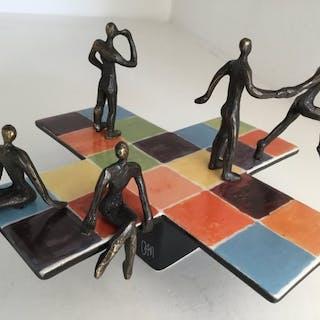 """Corry Ammerlaan van Niekerk - Artihove - Skulptur """"Quadrat der Reflexion"""""""