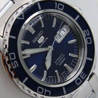 "Seiko - Automatic 23 Jewels ""50 Fathoms"" Blue - Made in japan - Uomo - 2018"