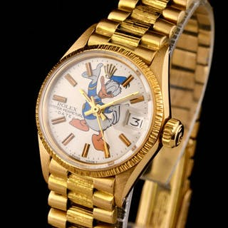 Rolex - Excellent Oyster Perpetual Donald Duck Gold - 18K...