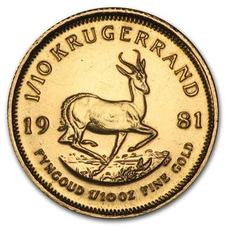 South Africa - 1/10 Krugerrand 1981 - 1/10 oz - Gold