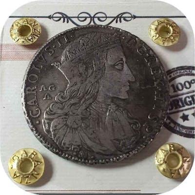 Spagna - Grande Ducato ,100 Grana,Carlo II di Spagna per...