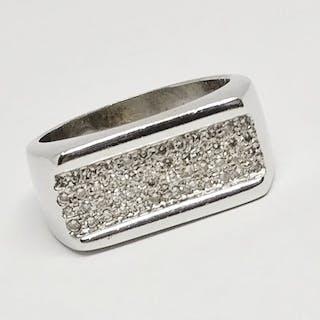 18 kt. White gold - Ring - 0.30 ct Diamond
