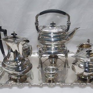 PASGORCY. Coffee and Tea Set - .925 silver - 5.350 gr. - Spain - 1900-1949