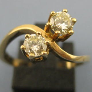 14 kt Gold - Ring - 0.25 ct