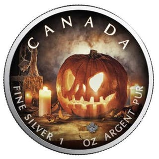Kanada - 5 Dollars 2018 - Maple Leaf Special Edition Halloween - 1 oz - Silber