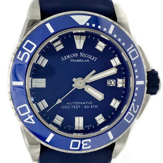 Armand Nicolet - JS9 Diver Automatic Blue Dial with...