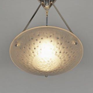 Muller Frères art deco chandelier Deckenlampe Hängelampe