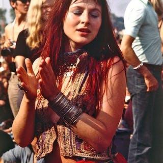 Henk van der Leeden (1941-) - Popfestival Kralingen, Rotterdam, 1970