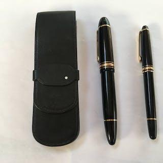 Montblanc - stylos plume stylos bille et sont encrier  - Collection de 3