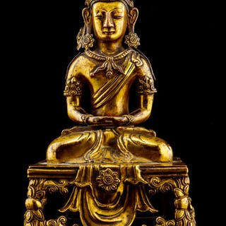 buddha - Gilt bronze - China - Qianlong (1736-1795)