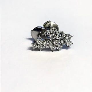 Tiffany - 950 Platino - Orecchini - 0.80 ct Diamante