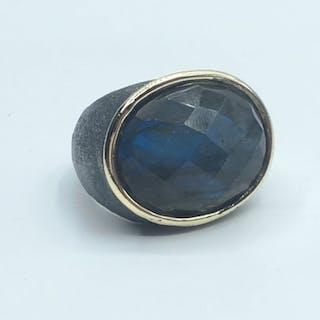Goudsmid Gold, Silver - Design combi color ring 14 carat - 35.00 ct labradorite