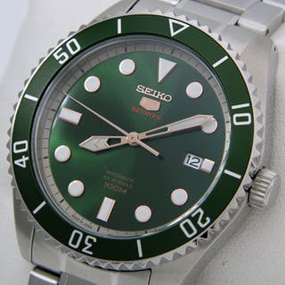 """Seiko - Automatic 23 Jewels """"Green Dial"""" - - Made in japan - - Men - 2018"""