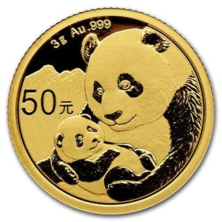 China - 50 Yuan 2019 Panda - 3g- Gold