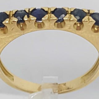 18 kt. Gold - Ring - 0.30 ct Sapphire