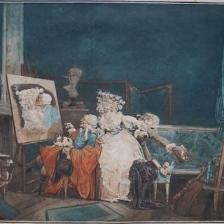 Philibert Louis Debucourt ( 1755-1832) - Les Deux Baisers