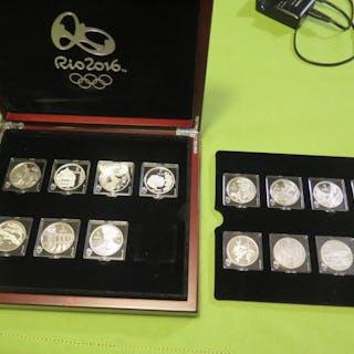 Brazil - 5 Reals 2015'XXXI Letnie Igrzyska Olimpijskie' (15 pieces)- Silver
