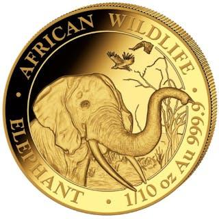 Somalia - 100 Shillings 2018 Elephant - 1/10 oz - Gold