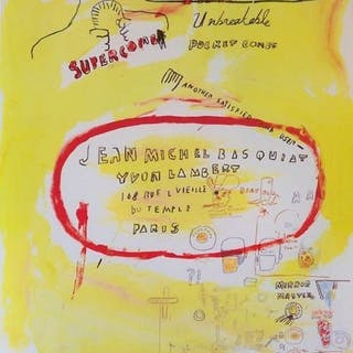 Jean-Michel Basquiat - Supercomb - 1988