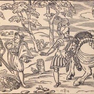 Georg Erlinger (1485-1541) - Armigeri con unicorno e figura fantastica