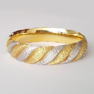36.7 gr 19-19,5 cm - 18 kt. White gold - Bracelet
