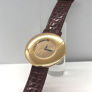 Chopard - 18k rose gold case and watch buckle...