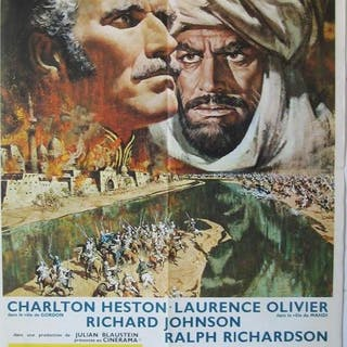 Khartoum, 1966 - Charlton Heston, Laurence Olivier - French Movie-poster