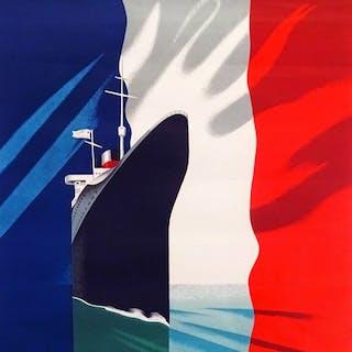 Paul Colin - French Line / Compagnie Générale Transatlantique- 1940s
