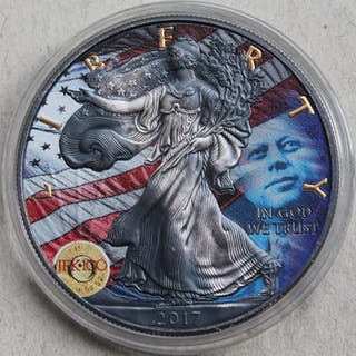 USA - 1 Dollar 2017 John F. Kennedy - American Eagle - 1 oz - Silber