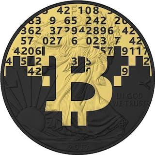 USA - 1 Dollar 2017 American Eagle - Bitcoin Blocks - 1 oz - Silber