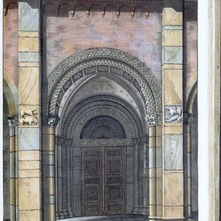Giulio Ferrario  - Monumenti sacri e profani Basilica Sant' Ambrogio - 1824