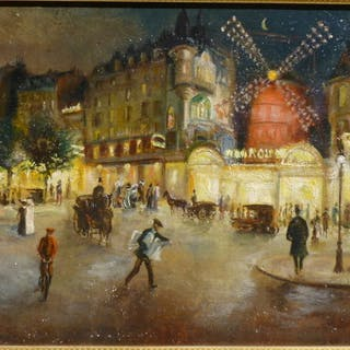 Paul GIRAUD 1844-1917 - Le Moulin rouge