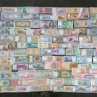 Welt - Collectie diverse bankbiljetten (± 150 verschillende)